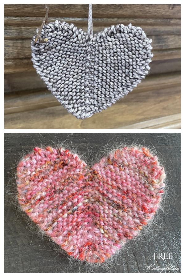 Rustic Little Heart Free Knitting Pattern