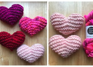 Chubby Garter Stitch Heart Free Knitting Patterns