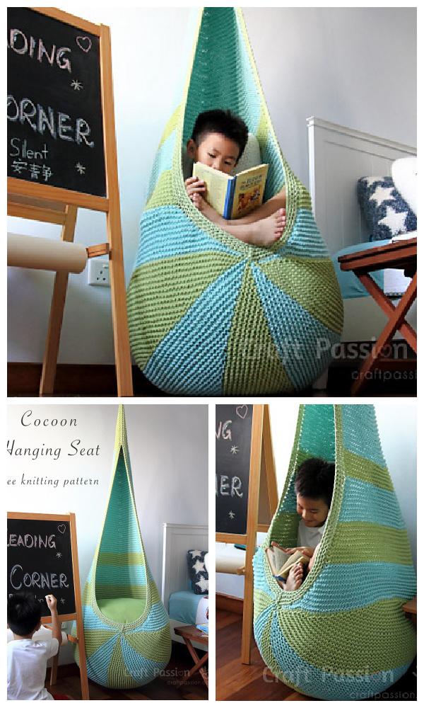 Cocoon Hanging Seat Free Knitting Pattern