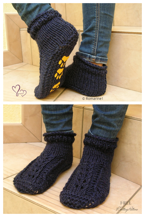 Knit Lace Better Dorm Boots Free Knitting Patterns