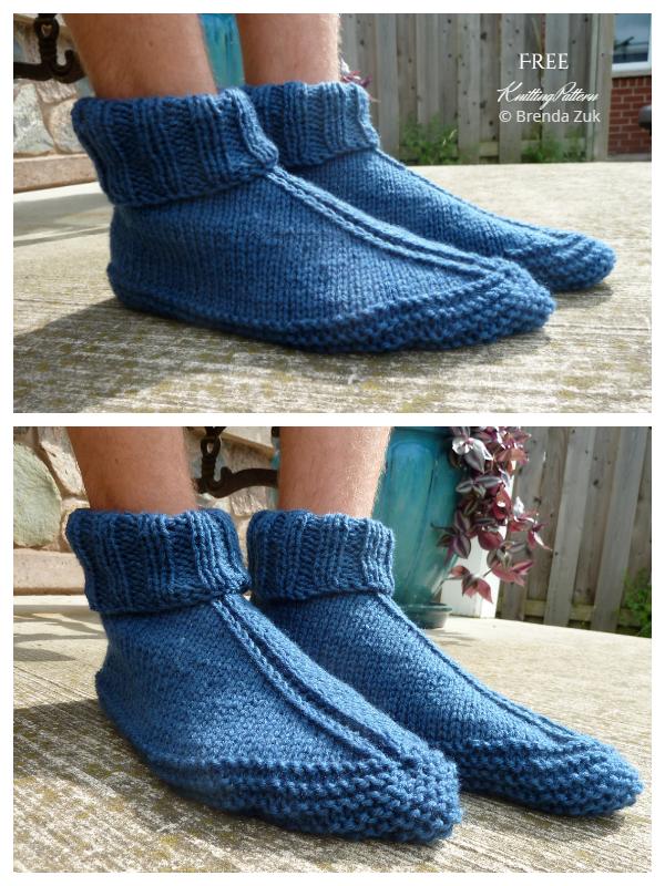Knit Dorm Boots Free Knitting Patterns