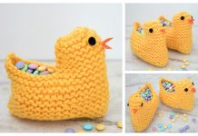 Easter Chick Basket Free Knitting Pattern