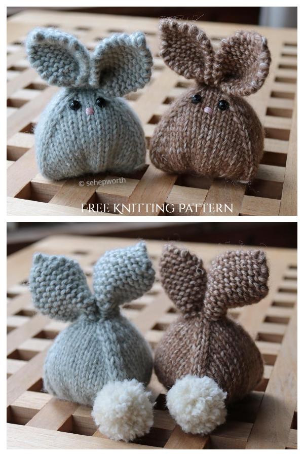 Modèles de tricot gratuits pour lapins en tricot