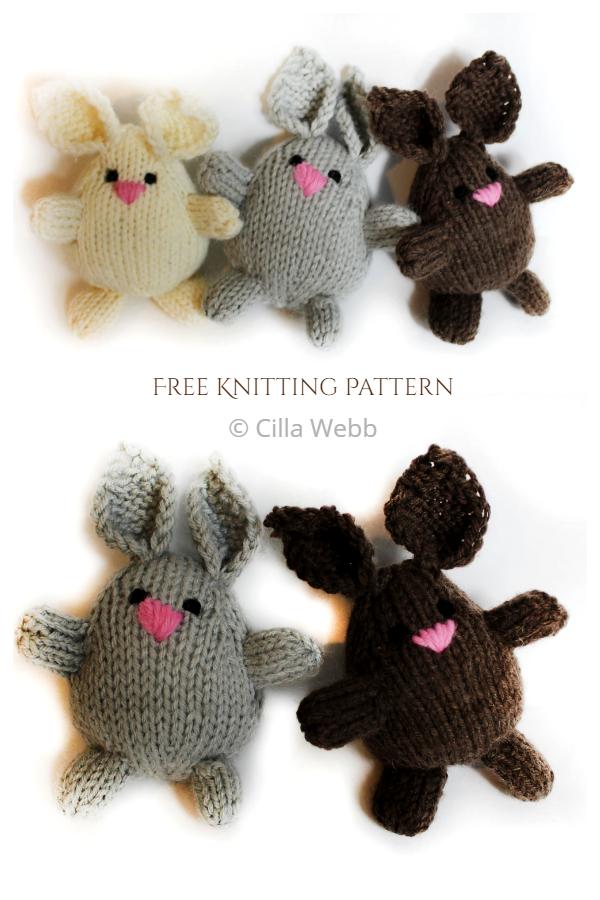 Modèles de tricot gratuits de Bunny Buddies