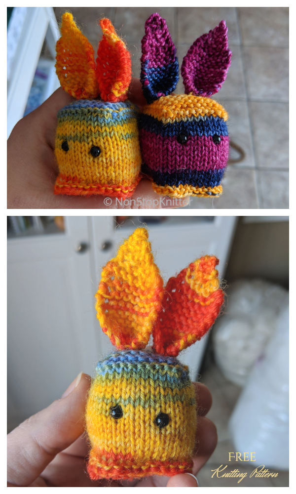 Modèles de tricot gratuits de cubes de lapin en tricot