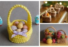 Mini Easter Basket Free Knitting Patterns