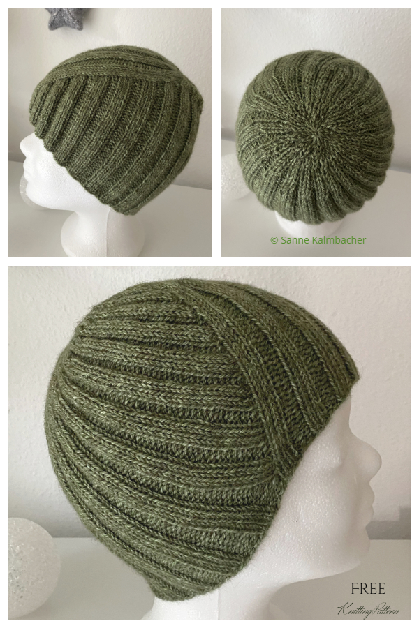 Knit Ribbed Smith's Hat Free Knitting Pattern