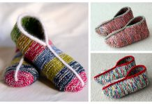 Simple Garter Stitch Slippers Free Knitting Pattern
