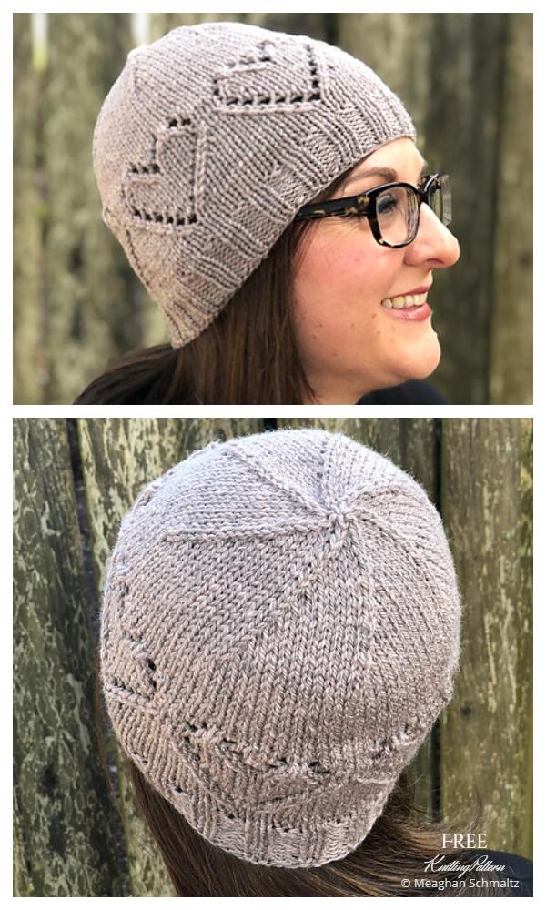 Patrons de tricot gratuits pour chapeau de coeur en dentelle de brebis