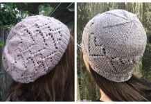 Lace Heart Hat Free Knitting Patterns