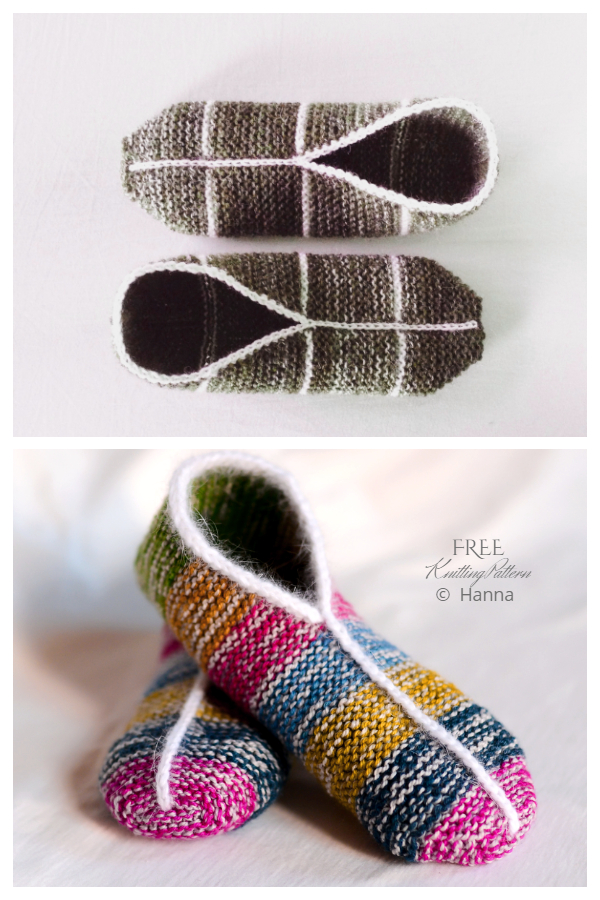 Simple Garter Stitch Slippers Free Knitting Pattern