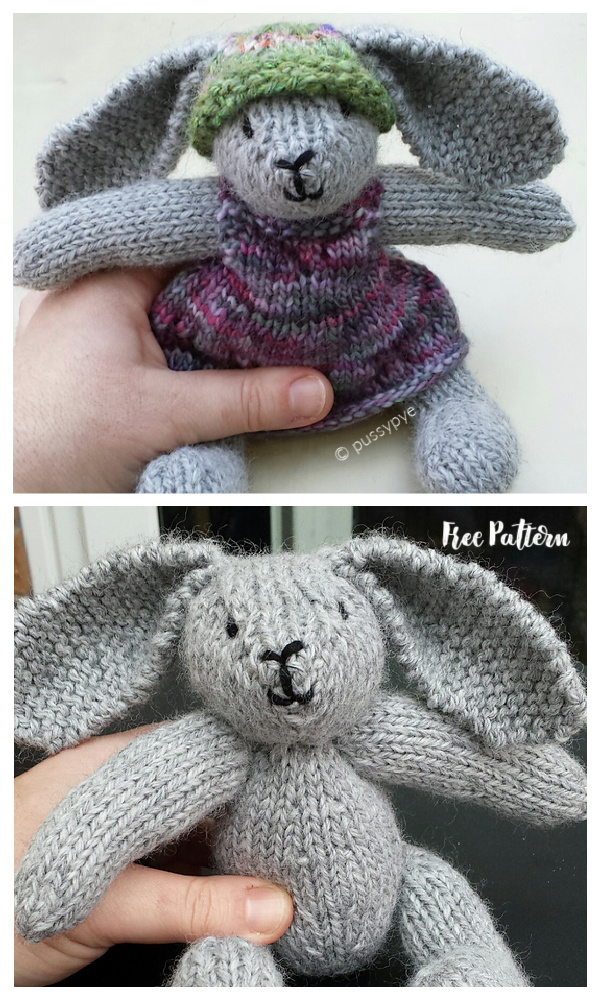 Amigurumi Easter Rabbit and Bear Free Knitting Patterns