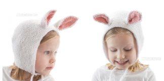 Baby Bunny Bonnet Free Knitting Pattern