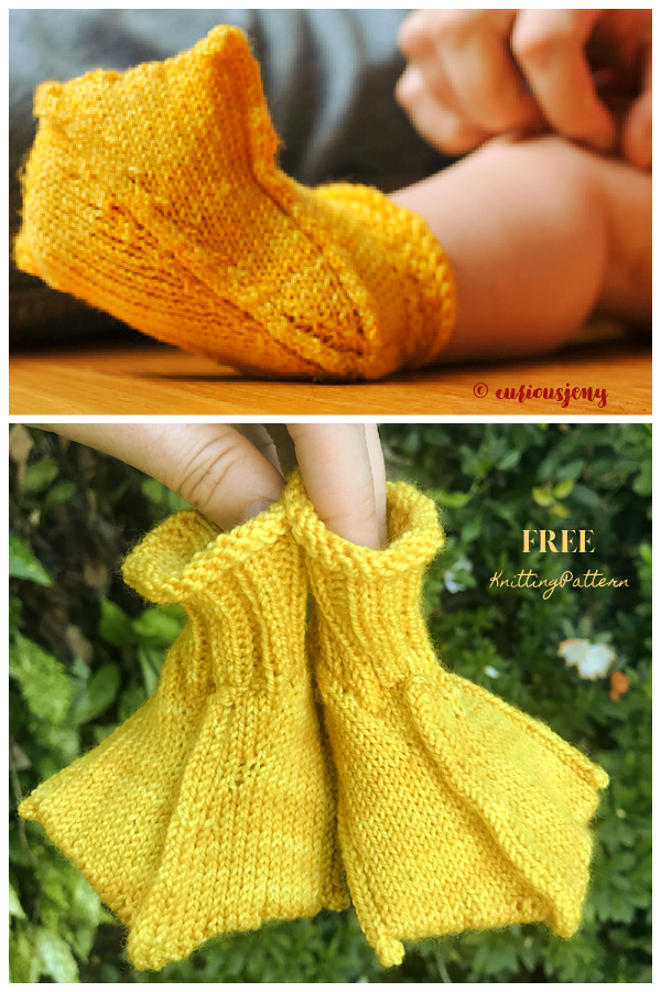 Baby Duck Boots Free Knitting Patterns