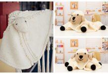 Baby Lamb Lovey Blanket Free Knitting Patterns