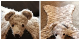 Small Bear Rug Free Knitting Pattern