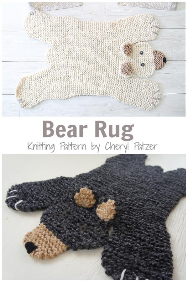 Bear Rug Knitting Patterns