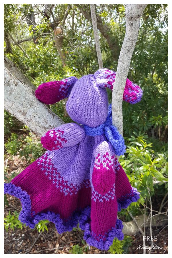 Knit Bunny Lovie Free Knitting Patterns