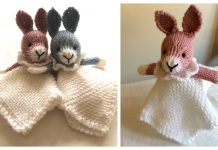 Knit Bunny Lovey Blanket Free Knitting Patterns
