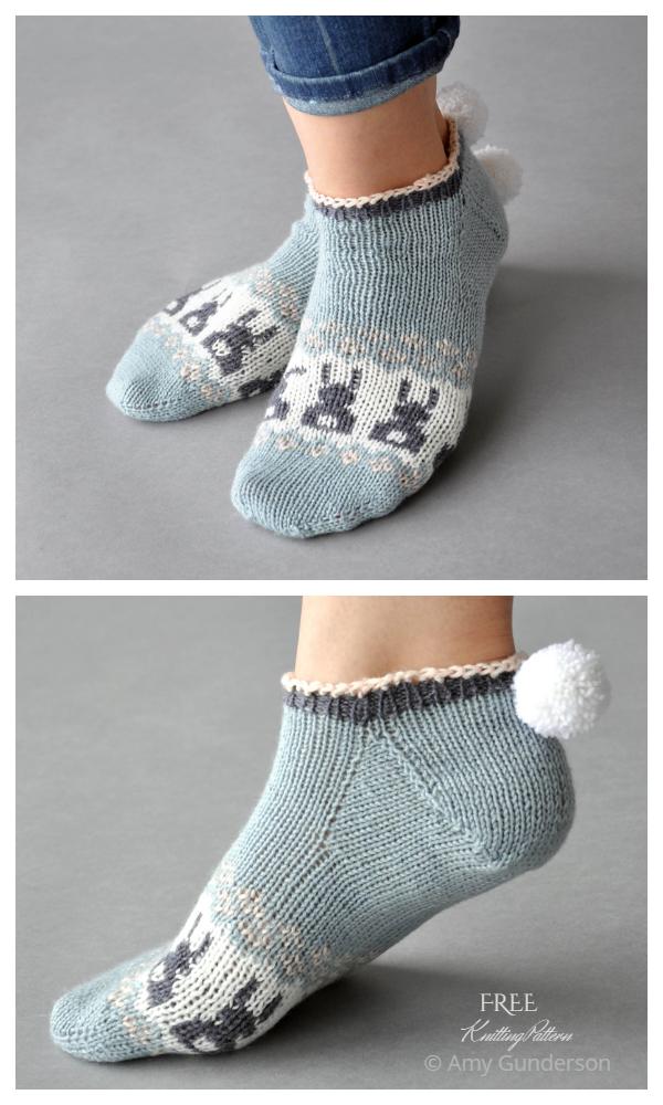 Bunny Got Back Socks Free Knitting Patterns