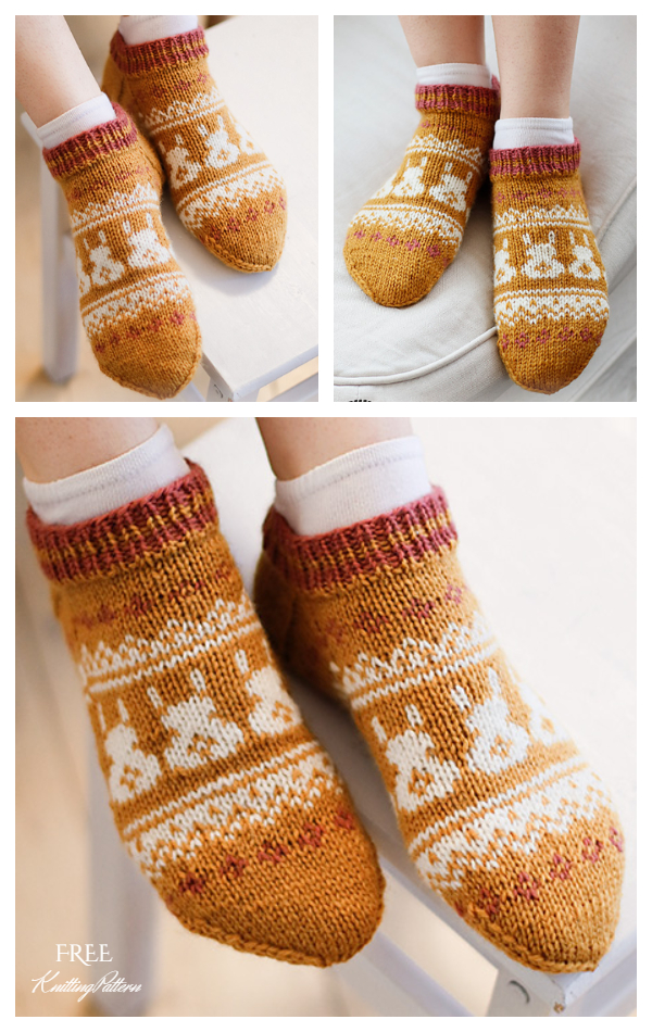 Bunny Dance Socks Free Knitting Patterns