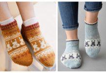 Bunny Socks Free Knitting Patterns