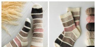 Knit Color Palette Socks Free Knitting Pattern