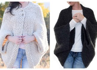 Easy Knit Blanket Sweater Free Knitting Pattern