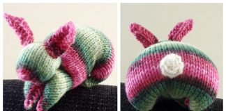 Easy Knit Square Bunny Free Knitting Pattern
