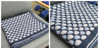 Knit Honeycomb Stroller Blanket Free Knitting Pattern