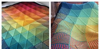 Hue Shift Afghan Blanket Knitting Pattern