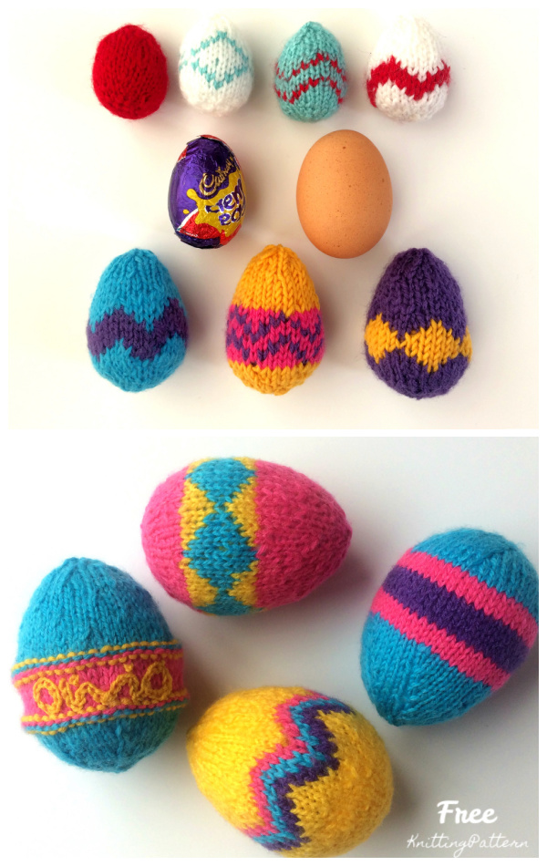 Patterned Easter Egg  Free Knitting Patterns