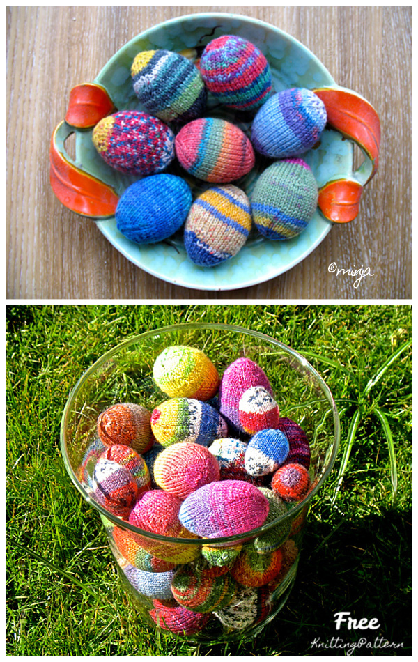 An Egg A Day Easter Eggs Free Knitting Patterns