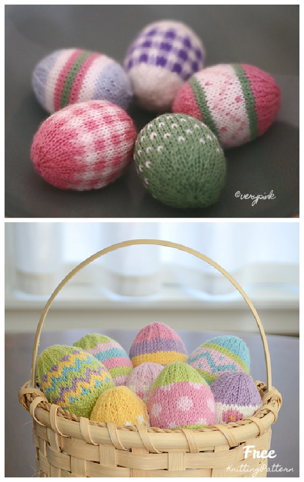 Knit Colorful Easter Eggs Free Knitting Patterns
