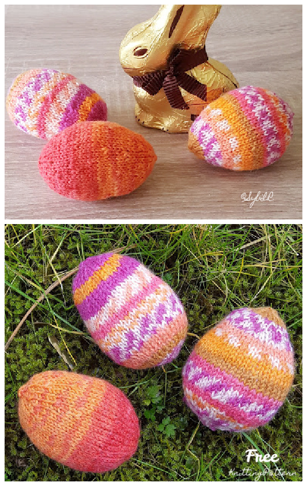 Quick Knit Easter Eggs Free Knitting Patterns