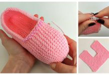 Knit One-Piece Slippers Free Knitting Patterns + Video