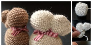 Knit One Square Stuffed Bunny Free Knitting Patterns