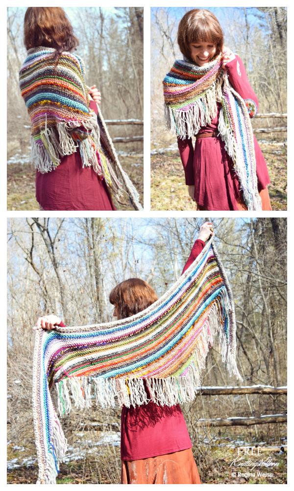 Knit Scrappy Shawl Free Knitting Pattern