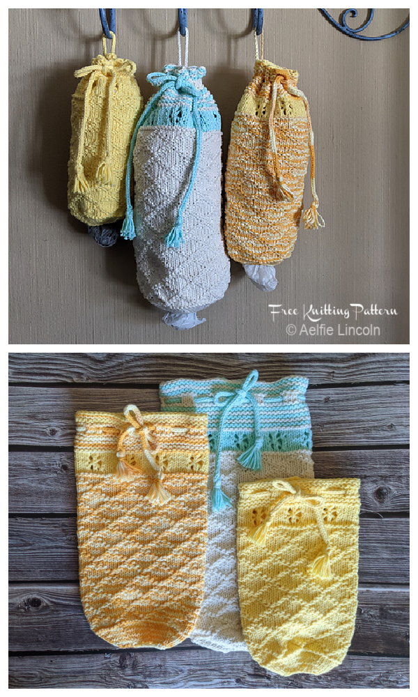 Lattice Remember to Recycle Plastic Bag Dispenser Free Knitting Patterns