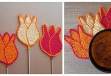 Tulip Potholder Free Knitting Pattern