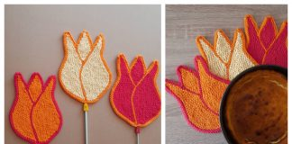 Tulip Potholder Free Knitting Pattern