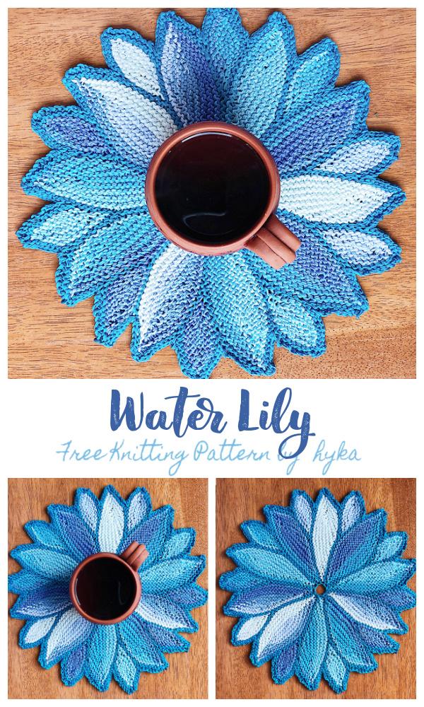Water Lily Full Circle Free Knitting Pattern