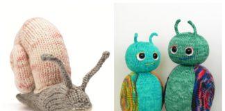 Amigurumi Snail Free Knitting Patterns & Paid