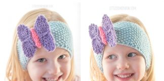 Butterfly Headband Free Knitting Pattern