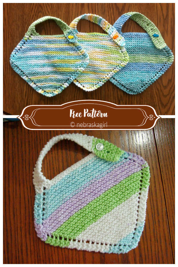 Easy Baby Bib Free Knitting Patterns