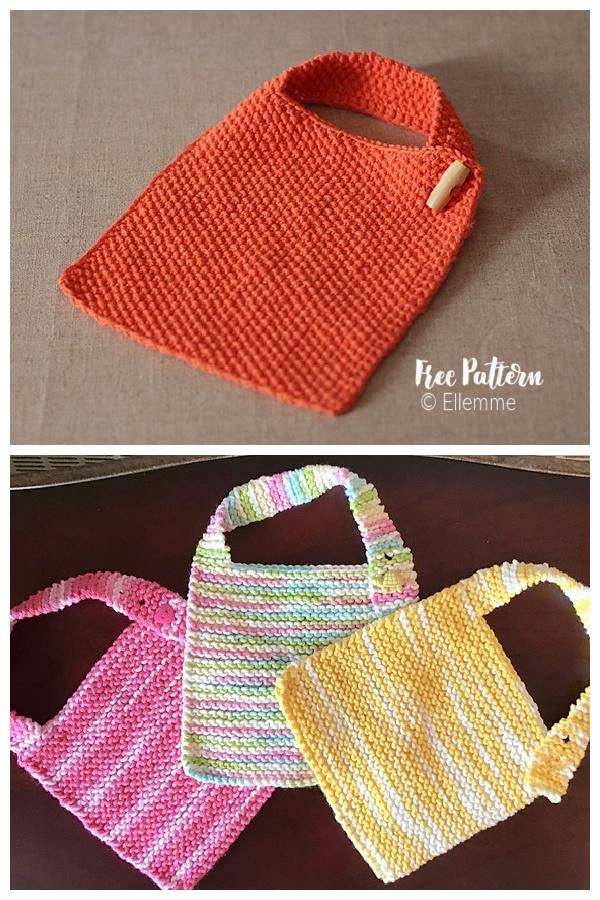Simple Baby Bib Free Knitting Pattern