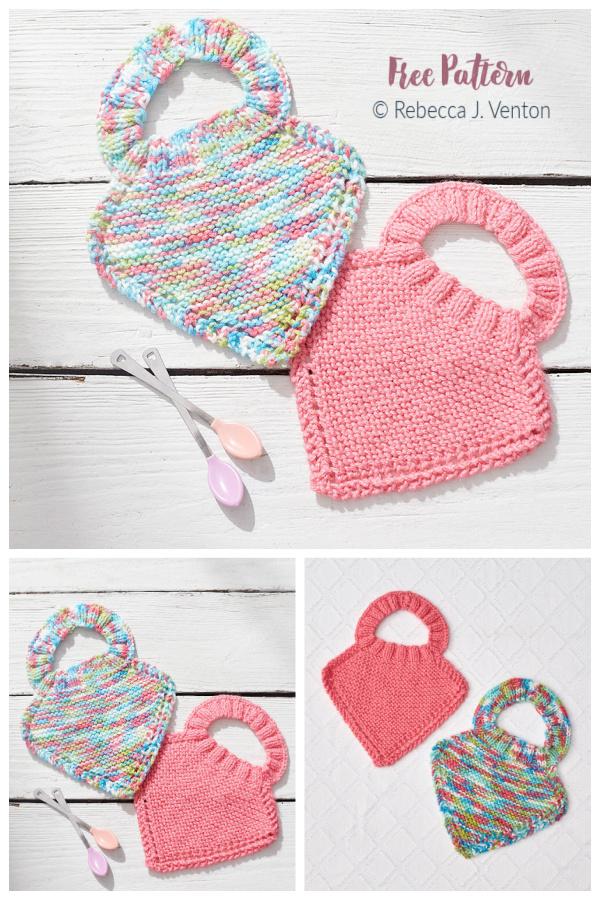 Easy Baby Bib Free Knitting Pattern