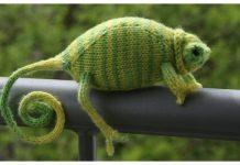 Knit Chamaeleon Toy Free Knitting Pattern