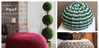 Knit Pouf Ottoman Knitting Patterns