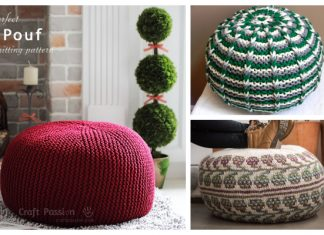 Knit Pouf Ottoman Knitting Patterns